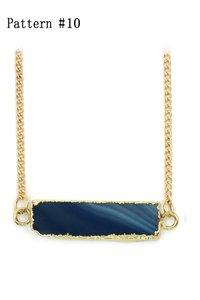 Ocean Fashion Fashion natural stone golden necklace 10#