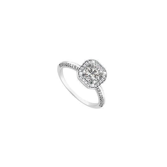 Preload https://img-static.tradesy.com/item/24446907/white-halo-engagement-princess-cut-cubic-zirconia-in-sterling-silver-1-ring-0-0-540-540.jpg