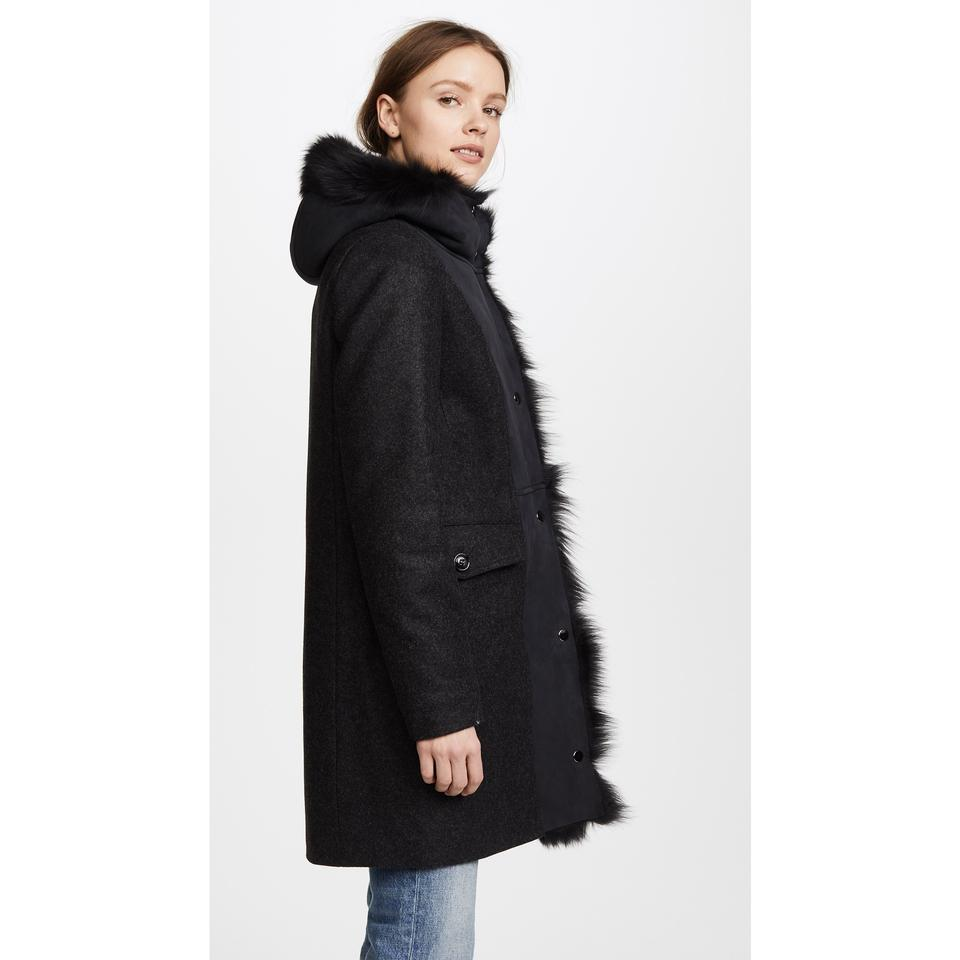 96aae587e Woolrich Black John Rich and Bros Emily Shearling Coat Size 8 (M) - Tradesy