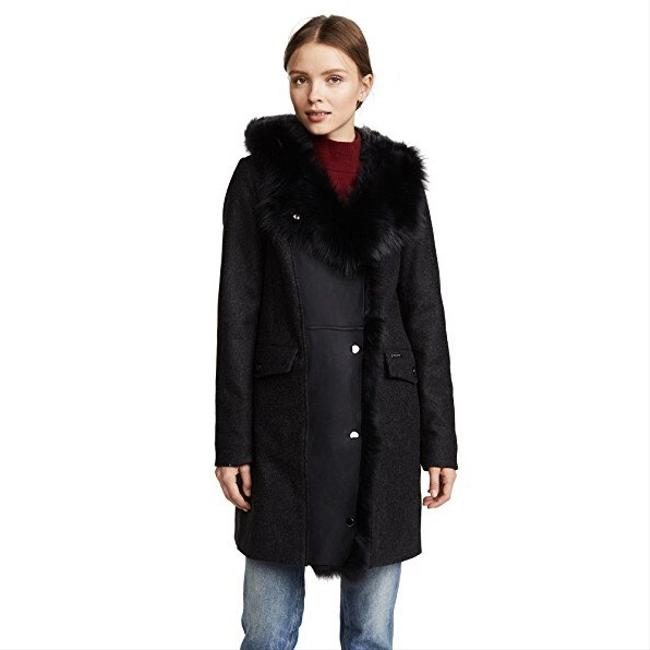 f9ed7ae04 Woolrich Black John Rich and Bros Emily Shearling Coat Size 8 (M ...