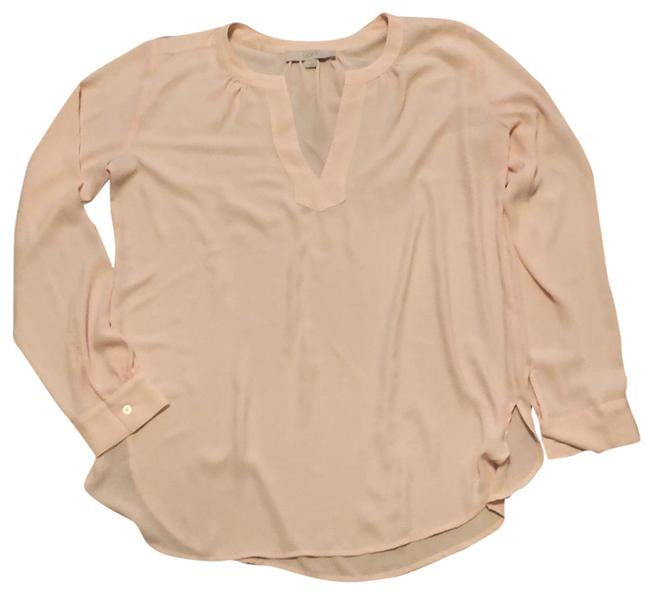Preload https://img-static.tradesy.com/item/24446961/ann-taylor-loft-pale-pink-classic-blouse-size-6-s-0-1-650-650.jpg