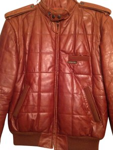 Members Only Rust Leather Jacket