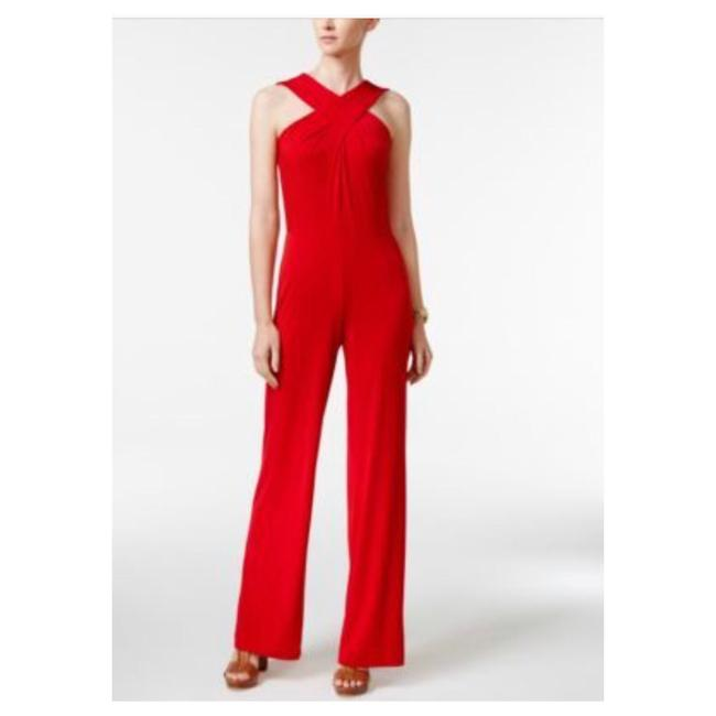 Preload https://img-static.tradesy.com/item/24447001/michael-michael-kors-red-crossover-halter-wide-leg-mf68wc1s32-romperjumpsuit-0-0-650-650.jpg