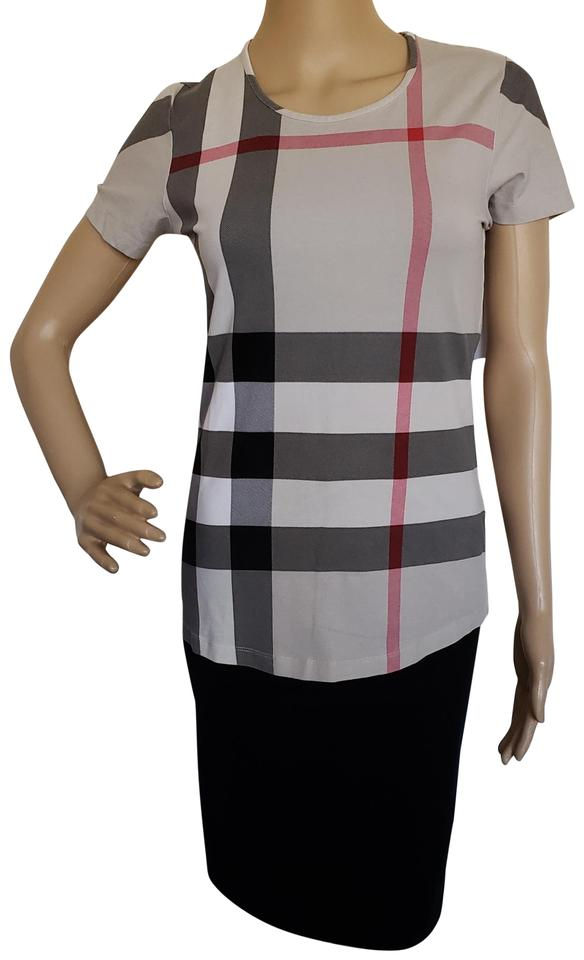a292071002474b Burberry Nova Check Plaid Monogram House Check Exploded Check T Shirt Beige  Image 0 ...