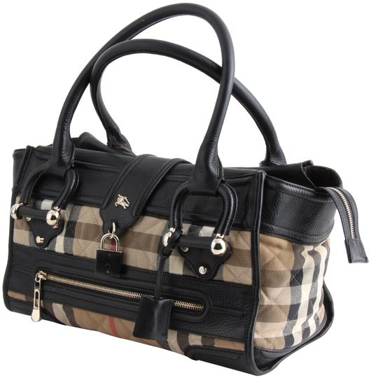 Preload https://img-static.tradesy.com/item/24447032/burberry-quilted-house-check-manor-black-canvas-satchel-0-1-540-540.jpg