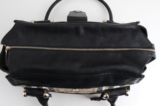 Burberry Quilted Canvas Nova Check Manor Satchel in Black
