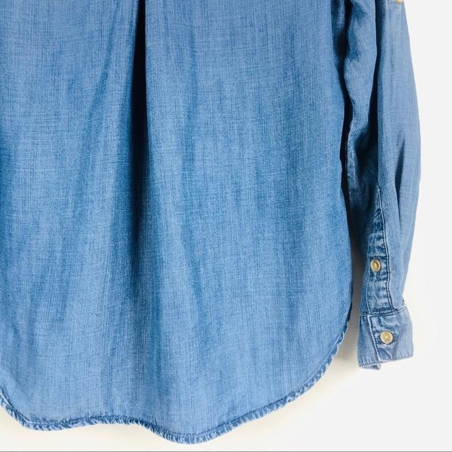 Anthropologie Button Down Shirt blue denim