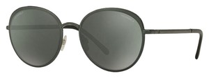 Chanel Chanel 4206 468/C0 Green / Dark Grey /w Green Mirror Round Sunglasses