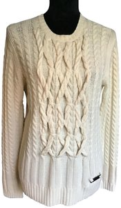 Burberry London Xl Wool/Cashmere Blend Soft/Comfortable Fit H/W Name Long Sleeve Sweater