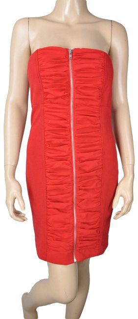 Preload https://img-static.tradesy.com/item/24447173/dainty-hooligan-red-ruched-bodycon-mid-length-cocktail-dress-size-8-m-0-1-650-650.jpg