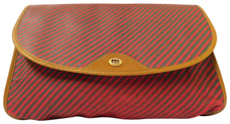 2766edc7b475 Gucci Mint Vintage Red Green Frame Large Rare Gac Print Style red and green  ...