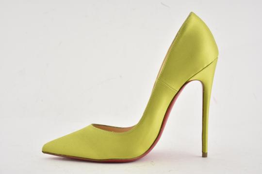 Christian Louboutin Pigalle Follies Stiletto Glitter Classic yellow Pumps