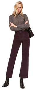 Reformation Corduroy Wide Leg Pants Purple