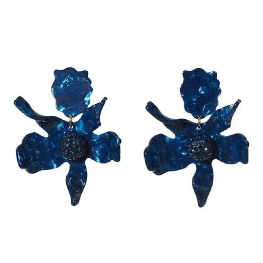 Preload https://img-static.tradesy.com/item/24447314/lele-sadoughi-blue-navy-crystal-lily-flower-clip-on-earrings-0-0-540-540.jpg