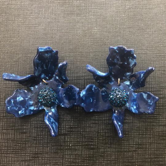 Lele Sadoughi crystal lily flower clip on earrings