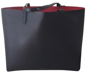 Mansur Gavriel Tote in Black exterior and red interior