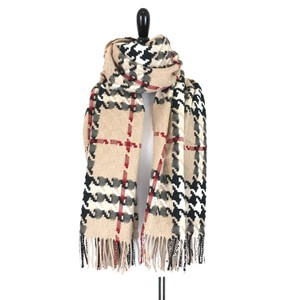Burberry Burberry Camel Check Merino Wool Thick Scarf