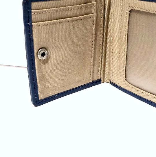 Fossil fossil blue leather bifold wallet