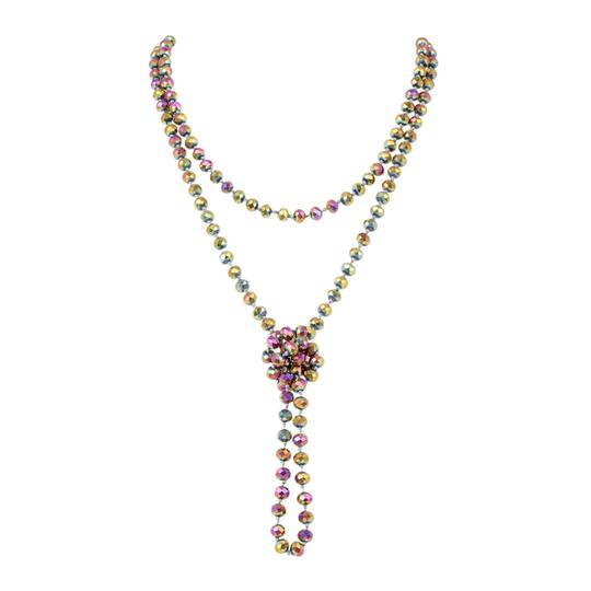 Preload https://img-static.tradesy.com/item/24447468/violet-multi-long-knotted-rondelle-beads-necklace-0-0-540-540.jpg