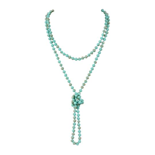 Preload https://img-static.tradesy.com/item/24447493/turquoise-long-knotted-rondelle-beads-necklace-0-0-540-540.jpg