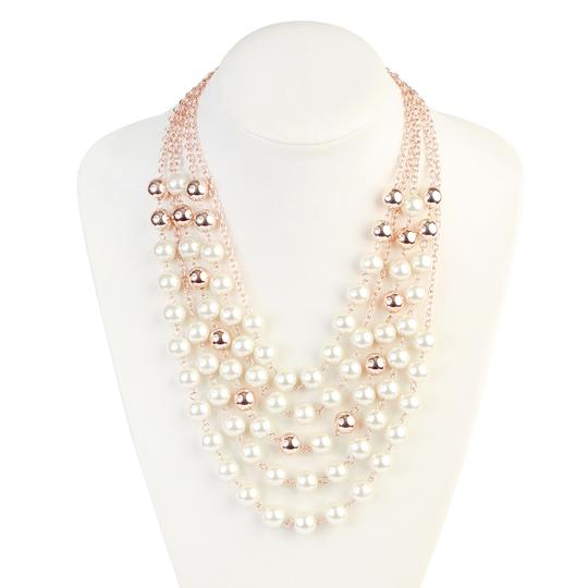 Riah Fashion 5 Strands Pearl Necklace