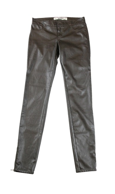 Preload https://img-static.tradesy.com/item/24447534/abercrombie-and-fitch-brown-coated-faux-leather-pant-jeggings-size-25-2-xs-0-2-650-650.jpg