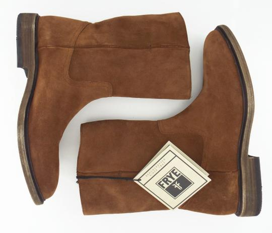 Frye Walnut Brown Suede Leather Ankle Boots Men's Shoes