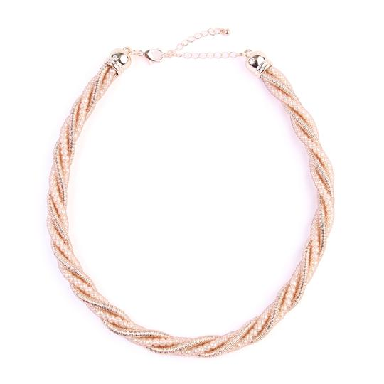 Preload https://img-static.tradesy.com/item/24447573/brown-beaded-rope-twisted-choker-necklace-0-0-540-540.jpg