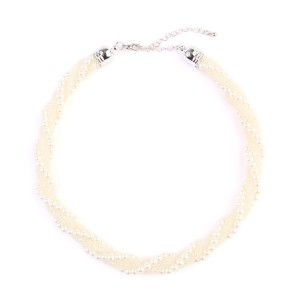 Riah Fashion Beaded Rope Twisted Choker Necklace