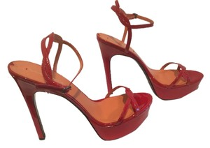 Via Spiga All Leather Red patent Platforms
