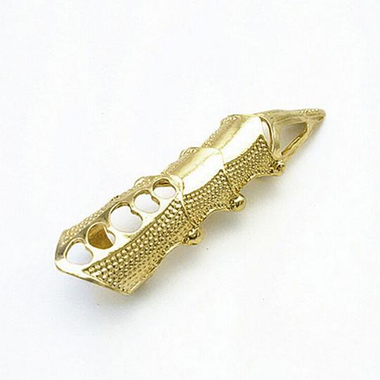 na Gothic Full Finger Armor Punk Claw Ring Goldtone Adjustable
