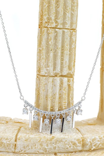 Ocean Fashion Temperament girl crystal clavicle silver necklace