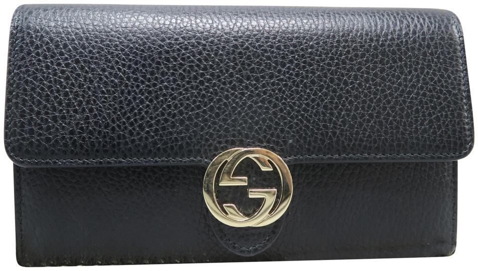 067f7eafd Gucci Wallet on Chain Marmont Gg Black Calfskin Leather Shoulder Bag ...