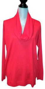 Vince Camuto Cowl-neck Ribbed Draped Side-split Detail Sweater