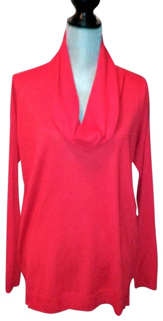 Preload https://img-static.tradesy.com/item/24447819/vince-camuto-draped-ribbed-cowl-neck-long-sleeve-red-sweater-0-1-650-650.jpg