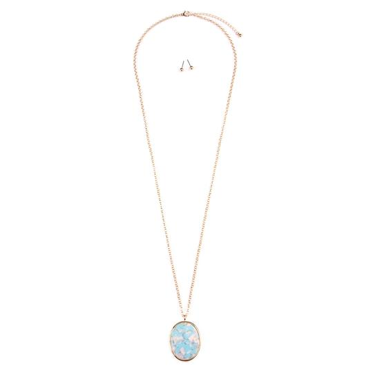 Preload https://img-static.tradesy.com/item/24447831/aqua-two-tone-oval-pendant-earring-set-necklace-0-0-540-540.jpg