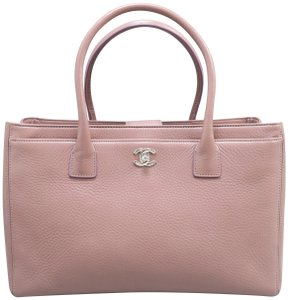 Chanel Cerf Calfskin Satchel in dusty pink