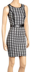 bailey blue short dress black/white Boy Con Hounds Tooth Short Sleeve Less on Tradesy
