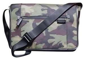 Michael Kors Travis Multi-Color (Green) Army Messenger Bag
