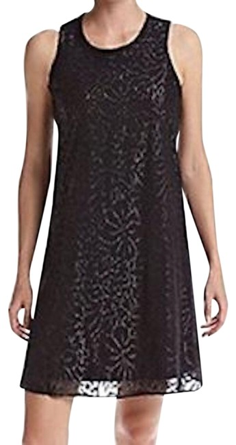 Preload https://img-static.tradesy.com/item/24447906/calvin-klein-black-with-silver-women-s-sleeveless-round-neck-floral-foil-chiffon-trapiz-mid-length-c-0-1-650-650.jpg