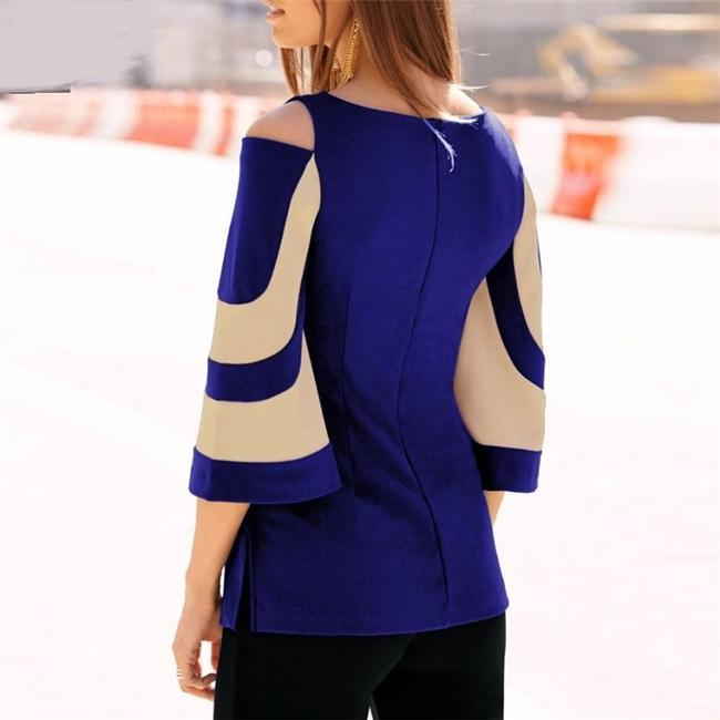 Feitong Top Blue/Beige