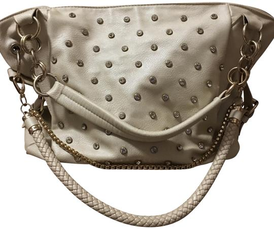 Preload https://img-static.tradesy.com/item/24447940/charming-charlie-studded-cream-faux-leather-shoulder-bag-0-1-540-540.jpg