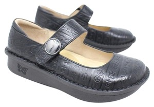 Alegria by PG Lite Leather Egyptian Tooled Black Flats