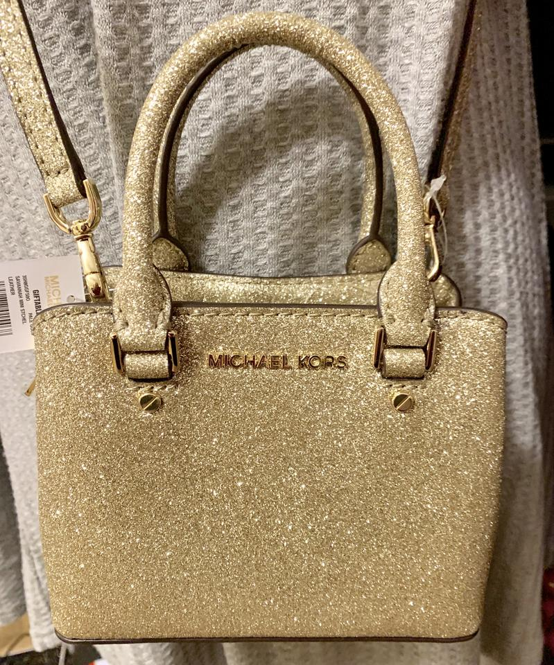 86a0a958ed1d7a Michael Kors Savannah Mini Satchel Comes W/Gift Bag-pale Gold Leather Cross  Body Bag - Tradesy