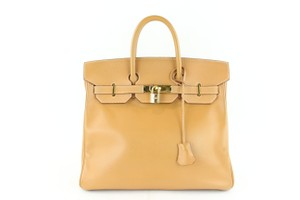 Hermès Hac Haut Birkin Kelly Evelyne Satchel in Brown