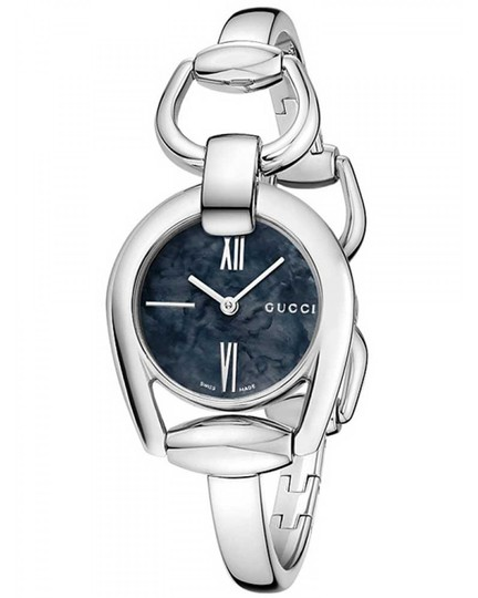 Gucci Horsebit Stainless Black Mother of Pearl Dial YA139503 Image 8