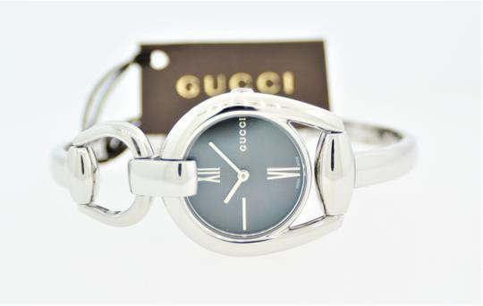 Gucci Horsebit Stainless Black Mother of Pearl Dial YA139503 Image 9