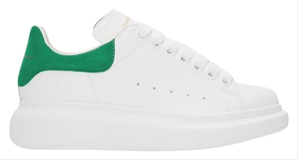 Alexander McQueen White & Green Oversized Sneakers Size US 6 Regular (M, B)