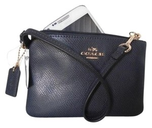 Coach Coach Zip Wristlet Wallet Leather in Black