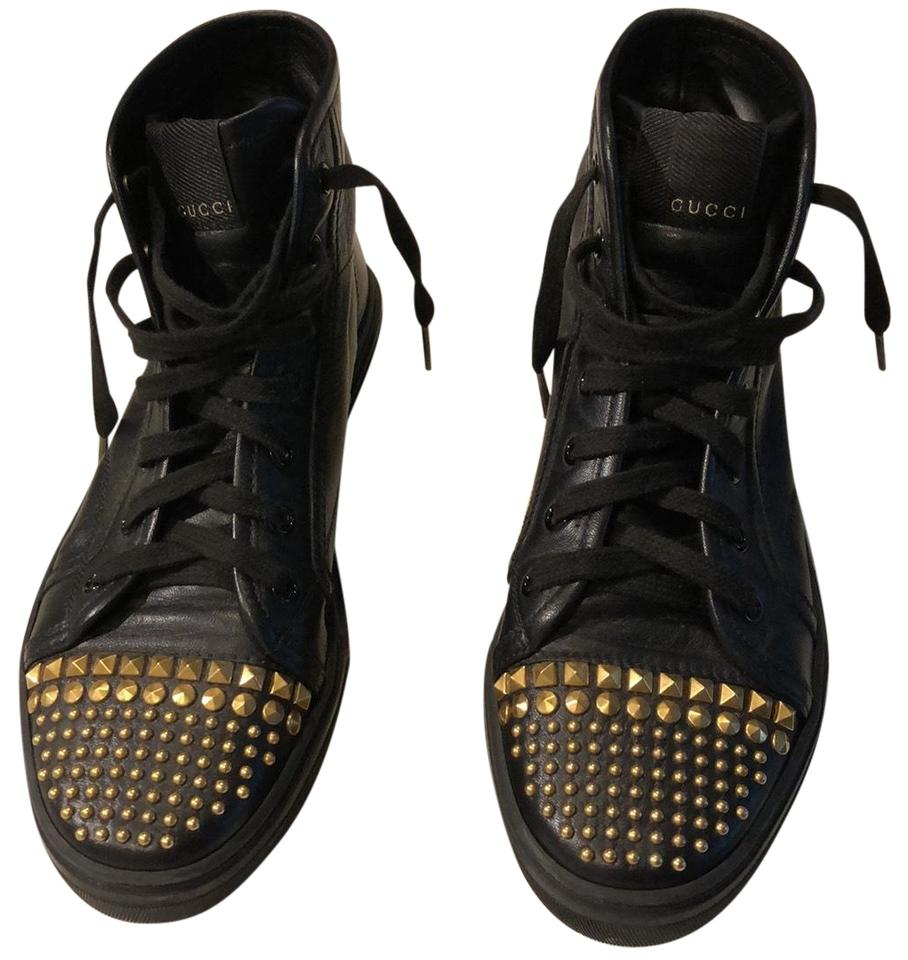 e7f49ef1f5e Gucci Black with Gold 354299 Sneakers. Size  EU 37 (Approx. US 7) ...